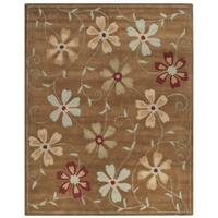 Safavieh Handmade Blossom Camel Wool Rug - 8' x 10'
