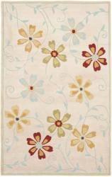 Safavieh Handmade Blossom Beige Floral Wool Rug - 5' x 8'