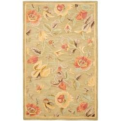 Safavieh Handmade Blossom Green Wool Rug (8' x 10')