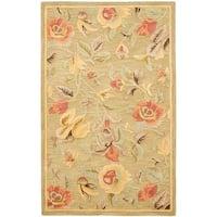 Safavieh Handmade Blossom Green Wool Rug - 8' x 10'