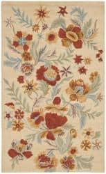 Safavieh Handmade Blossom Beige Indoor Wool Rug - 5' x 8'