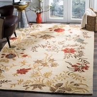 Safavieh Handmade Blossom Beige Wool Area Rug (4' x 6') - 4' x 6'