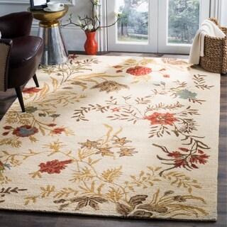 Safavieh Handmade Blossom Beige Traditional Floral Wool Rug (8' x 10')
