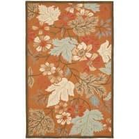 Safavieh Handmade Blossom Muted Rust Wool Rug - 5' x 8'