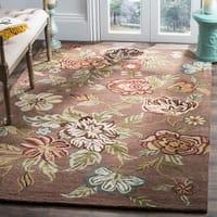 Safavieh Handmade Blossom Brown Wool Rug (5' x 8') - 5' x 8'