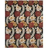 Safavieh Handmade Blossom Black Wool Rug - 8' x 10'