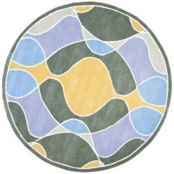 Safavieh Handmade Soho Modern Abstract Multicolored Rug (6' x 6' Round)