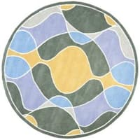 Safavieh Handmade Soho Modern Abstract Multicolored Rug - 6' x 6' Round