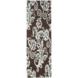 Safavieh Handmade New Zealand Wool Paris Brown/ Blue Rug (2'6 x 8')