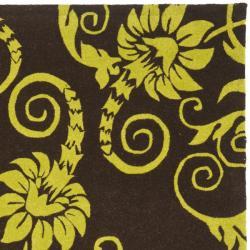 Safavieh Handmade New Zealand Wool Paris Brown/ Green Rug (3'6 x 5'6')