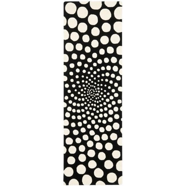 Safavieh Handmade New Zealand Wool Eternity Black Rug (2'6 x 8')