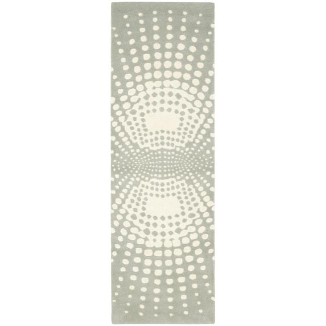 Safavieh Handmade New Zealand Wool Infinity Blue Rug (2'6 x 8')