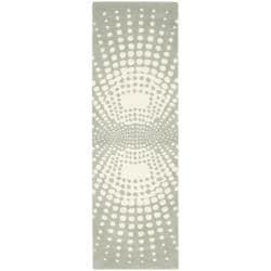 Safavieh Handmade New Zealand Wool Infinity Blue Rug (2'6 x 8') - 2'6 x 8' - Thumbnail 0