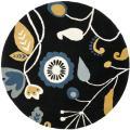 Safavieh Handmade New Zealand Wool Bliss Black Rug - 6' x 6' Round