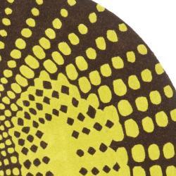 Safavieh Handmade New Zealand Wool Infinity Brown Rug (6' Round) - Thumbnail 1