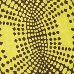 Safavieh Handmade New Zealand Wool Infinity Brown Rug (6' Round) - Thumbnail 2