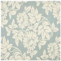 Safavieh Handmade New Zealand Wool Bliss Blue Rug (6' Square)