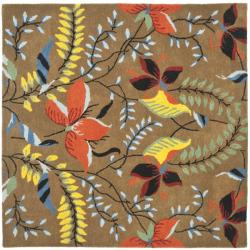Safavieh Handmade New Zealand Wool Mirage Brown Rug - 6' x 6' Square - Thumbnail 0