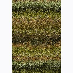 Artist's Loom Hand-woven Shag Rug (2'6 x 7'6) - Thumbnail 2