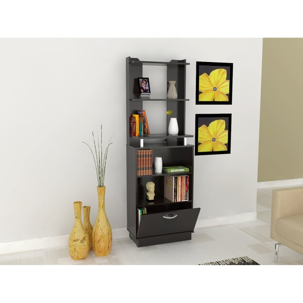 Inval Espresso/Wenge Storage Bookcase