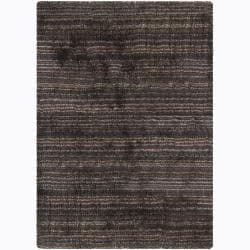 Artist's Loom Hand-woven Shag Rug (7'9 Round) - Thumbnail 0