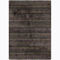 Artist's Loom Hand-woven Shag Rug - 7'9
