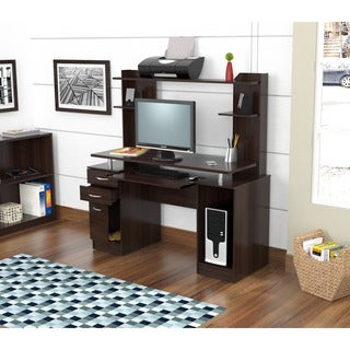 Inval Credenza/ Computer Workstation Desk with Hutch