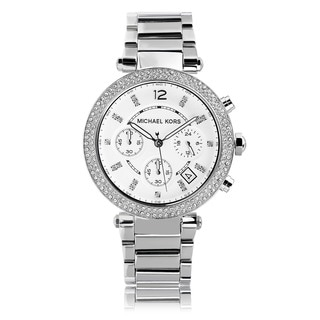 Michael Kors Women's MK5353 Crystal Bezel Stainless Steel Chronograph Watch