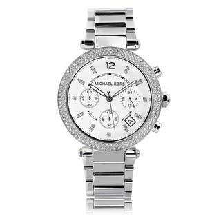 Michael Kors Women's MK5353 Crystal Bezel Stainless Steel Chronograph Watch|https://ak1.ostkcdn.com/images/products/6234281/P13875908.jpg?impolicy=medium