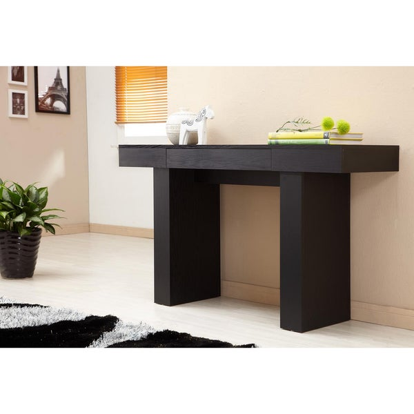 Perry Modern Black Sofa Table By Foa Free Shipping Today 6234337