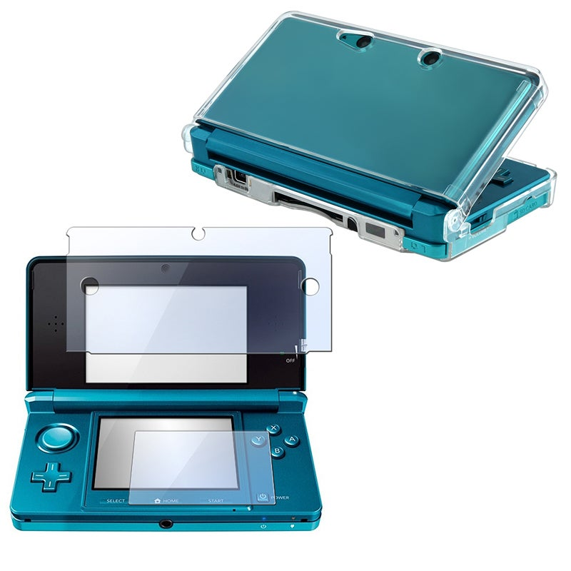 INSTEN Clear Crystal Hard Plastic Protector Case Cover/ Screen Protector for Nintendo 3DS