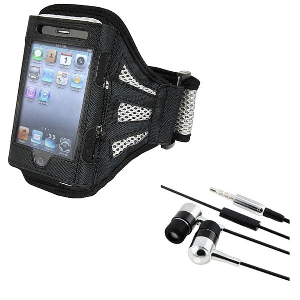 Black Armband/ INSTEN Headphones for iPod/ iPhone