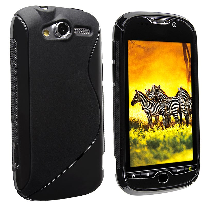 INSTEN Frost Black S Shape TPU Phone Case Cover for HTC Mytouch 4G