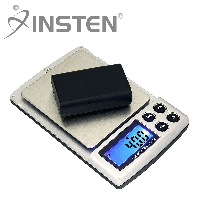 INSTEN Black Mini 2-pound Digital Pocket Gem and Jewelry Scale - Thumbnail 0