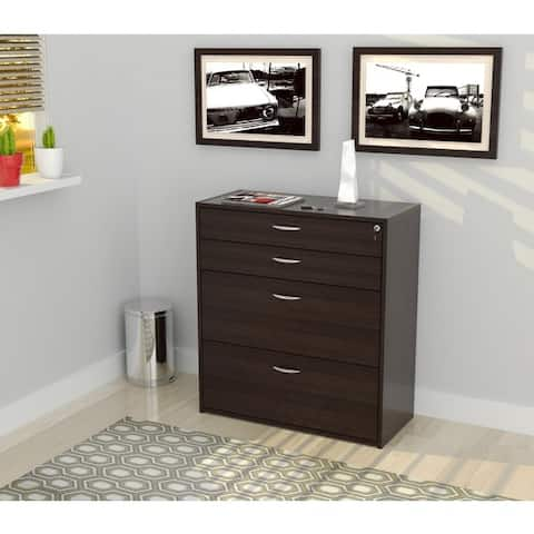 Inval Four Drawer File/ Storage Cabinet with Locking System