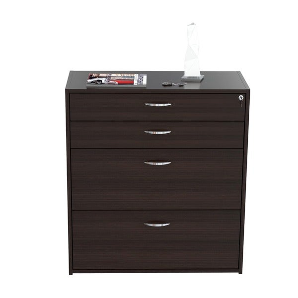Inval Four Drawer File/ Storage Cabinet With Locking System   Free Shipping  Today   Overstock.com   13876076