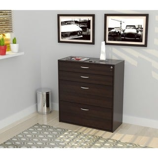 Inval Four Drawer File Storage Cabinet with Locking