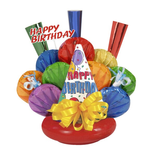 Birthday Celebration Cookie Gift Bouquet with Hat, Horns and Blowouts