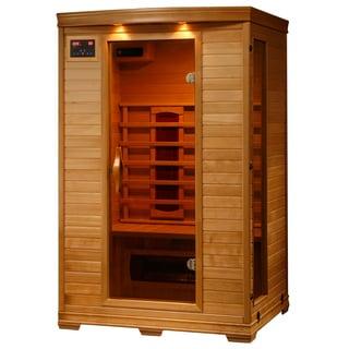 2-Person Hemlock Infrared Sauna with 5 Ceramic Heaters