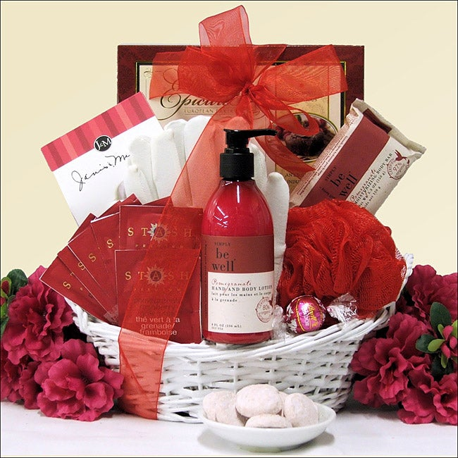Pomegranate Spa Retreat: Bath & Body Spa Gift Basket