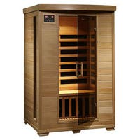 Radiant Saunas 2-person Hemlock Deluxe Infrared Sauna with 6 Carbon Heaters