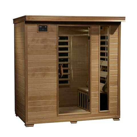 Radiant Sauna 4-person Hemlock Infrared Sauna with 9 Carbon Heaters