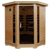 3-Person Hemlock Infrared Sauna with 7 Carbon Heaters - N/A