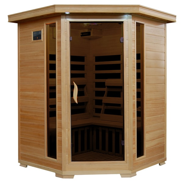 3-Person Hemlock Infrared Sauna with 7 Carbon Heaters