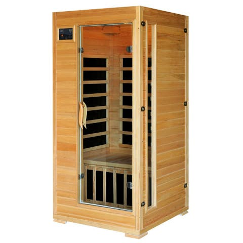 1-2 Person Hemlock Infrared Sauna with 4 Carbon Heaters