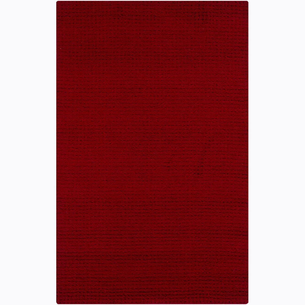Artist's Loom Hand-tufted Contemporary Solid Wool Rug (5'x8')