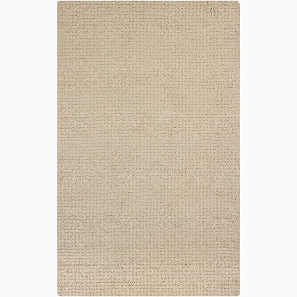 Artist's Loom Hand-tufted Contemporary Solid Wool Rug - 5' x 8'