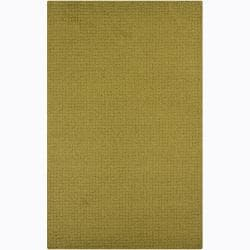 Artist's Loom Hand-tufted Contemporary Solid Wool Rug (4'x6')