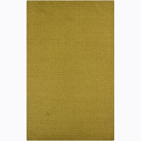 Artist's Loom Hand-tufted Contemporary Solid Wool Rug - 4' x 6'