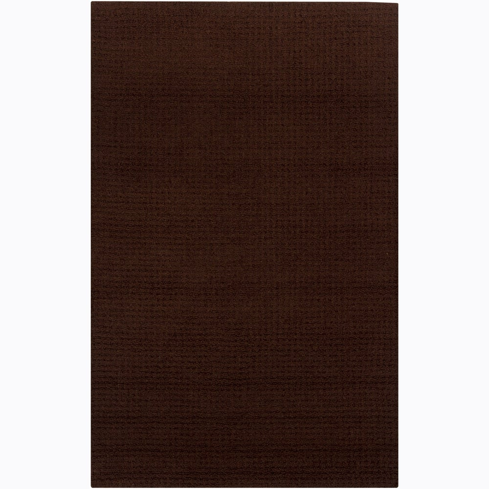 Hand-tufted Mandara Brown Rug (9' x 12')